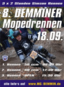 Plakat Mopedrennen 2010